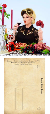 The Dinner Guest - Set of Six (6) Postcards