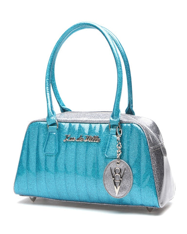 V8 De Ville Blue and Sparkle Tote by Lux De Ville