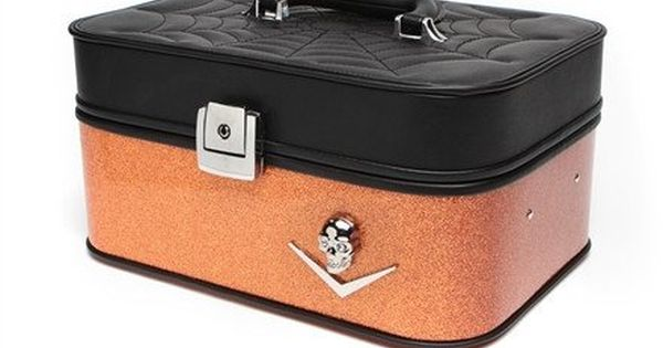 Elvira Vanity Case Black Twilight Tangerine Sparkle