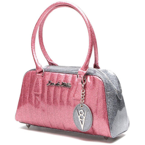 Lux De Ville Pink Bubbly Sparkle V8 Purse