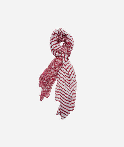 Dot and Stripe Sheer Scarf