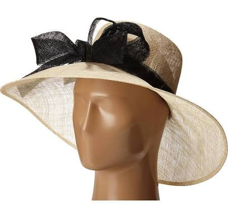 Wide Brim Derby Hat with Oversized Bow