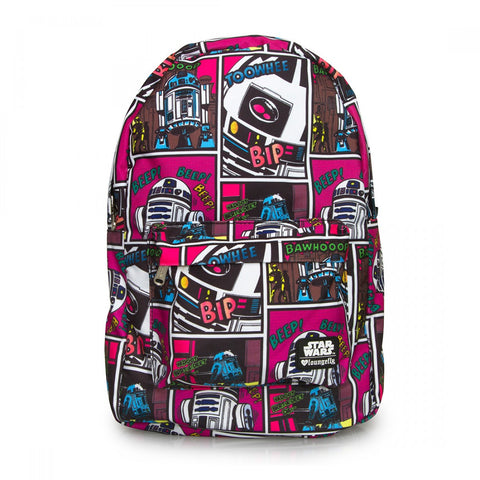 Star Wars R2-D2 Pink Backpack by Loungefly
