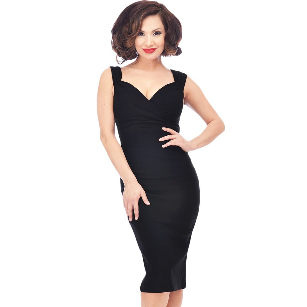 Diva Wiggle Dress in Black