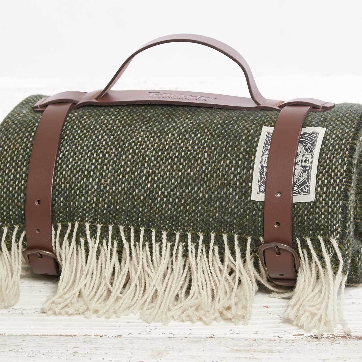 British Racing Green Picnic Blanket