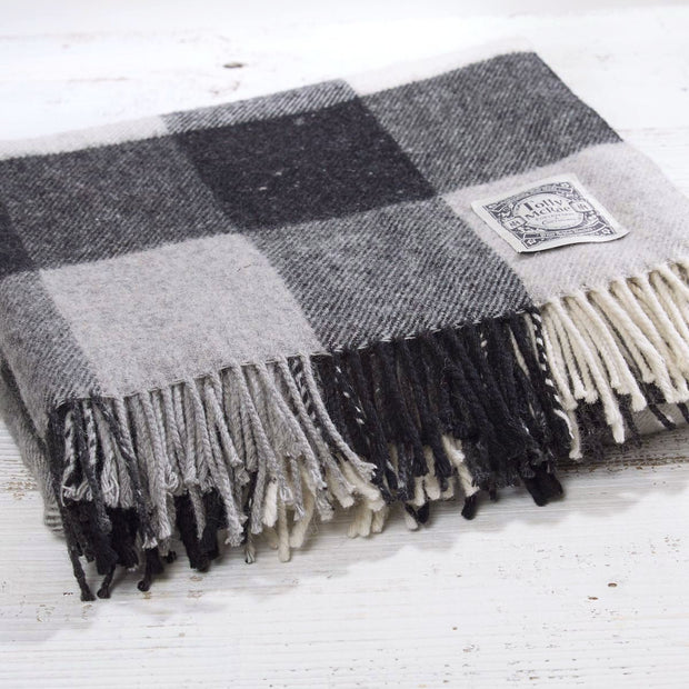 Black & White Checked Picnic Blanket