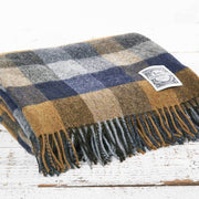 Blue Country Checked Picnic Blanket