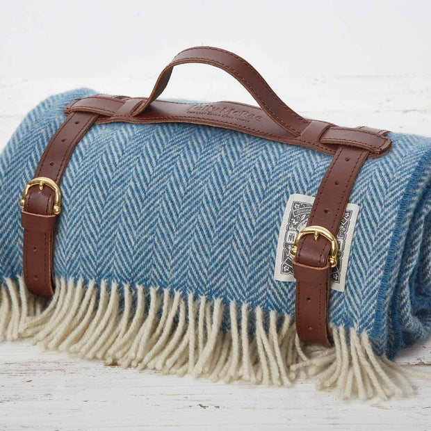 Cornish Blue Picnic Blanket