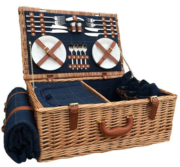 Twilight Blue Tweed Hamper (4 Person)