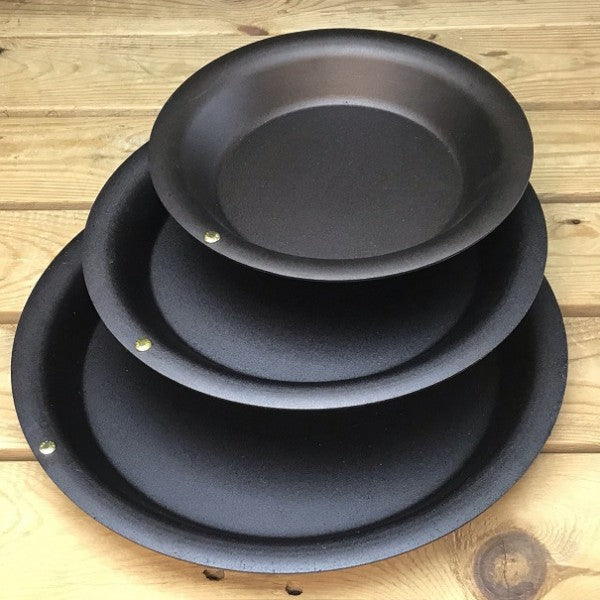 Spun Iron Pie Dishes (Individual or Set of 3)