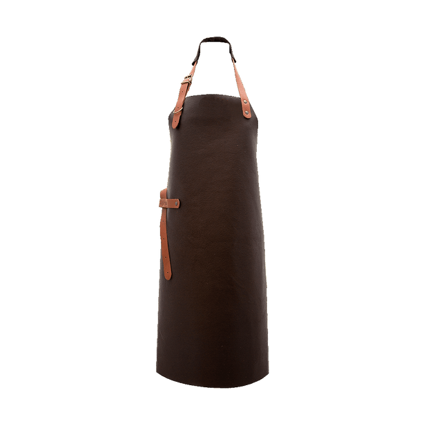 Leather BBQ Apron - Brown