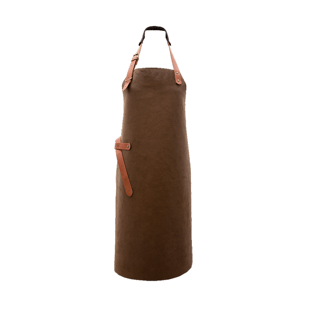 Leather BBQ Apron - Rust