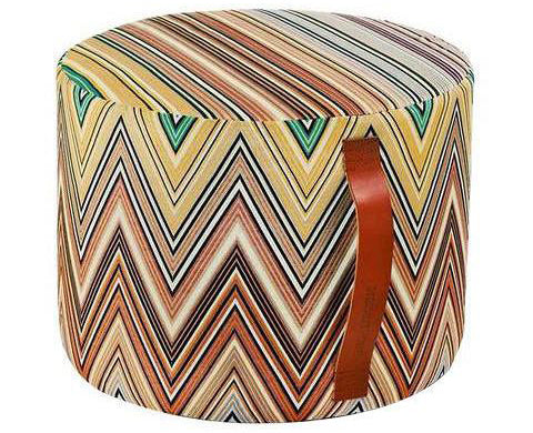 Missoni Home Kew Cylindrical T42 Pouf 16 X 12 IN