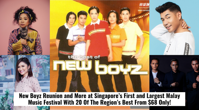 New Boyz Reunion and More at Singapore's First and Largest Malay Music Festival With 20 Of The Region's Best From $68 Only!
