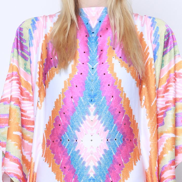 Kaftan Watercolor Pink Ikat