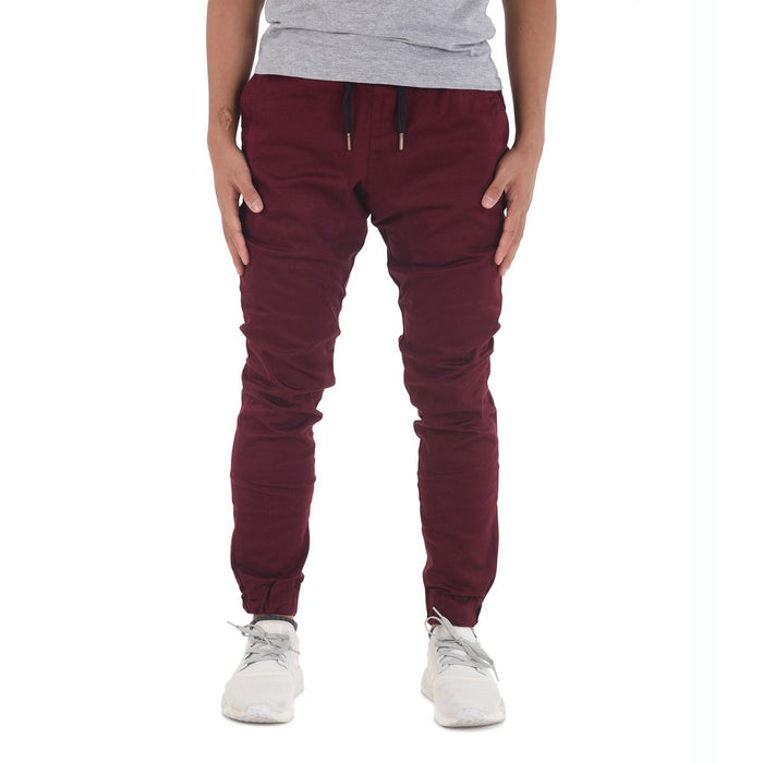 Zeeq Label – Capsule Jogger Pants (Burgundy) - RoseValley