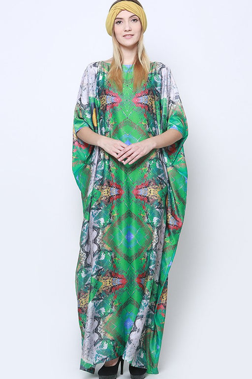 Green Abstract Kaftan