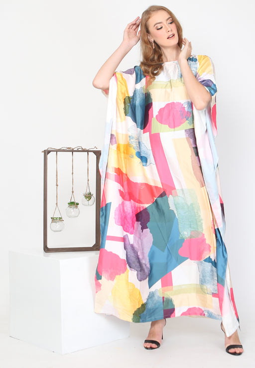 Kaftan Modern Brush Print