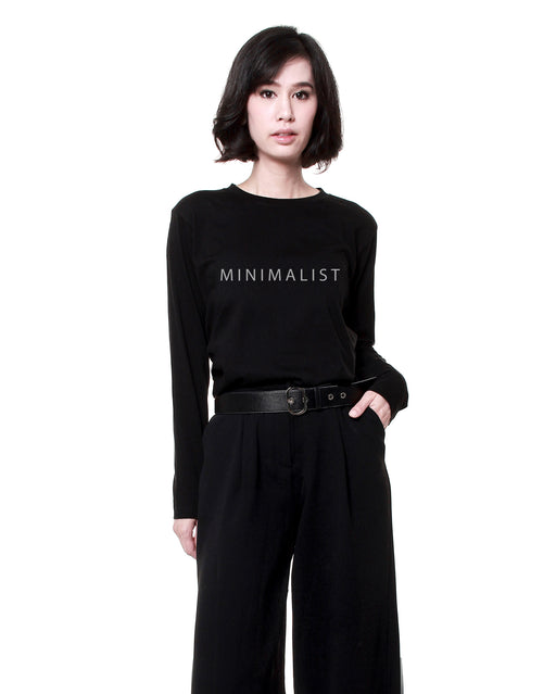 Minimalist Long Sleeve T-shirt – Black - RoseValley