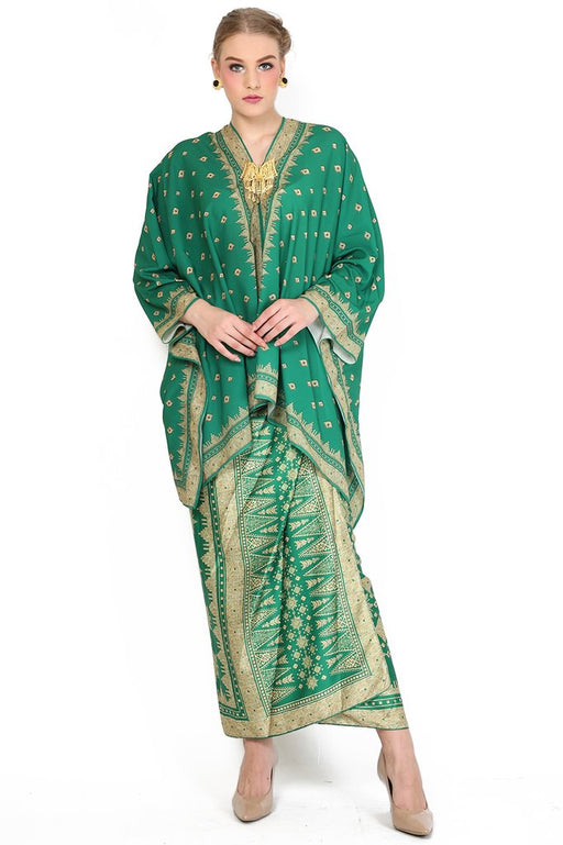 Kanzi Green Tunik Set with Sarong