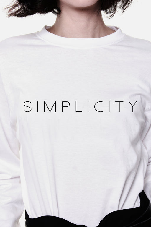 Simplicity Long Sleeve T-shirt – White - RoseValley