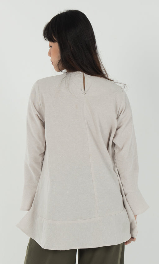 A Line Top in Nude - RoseValley
