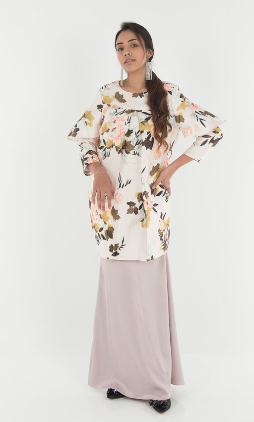 Adena Floral Top - Dusty Pink - RoseValley
