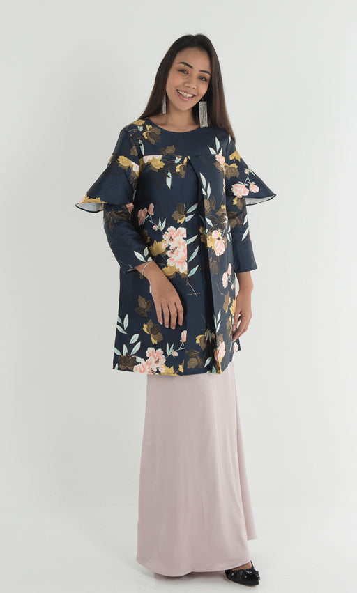 Adena Floral Top - Galaxy Navy - RoseValley