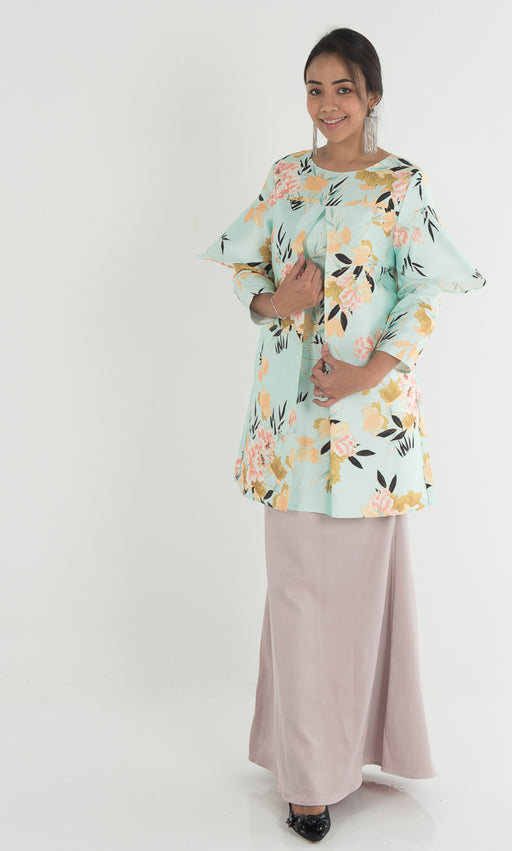 Adena Floral Top - Jade Green - RoseValley