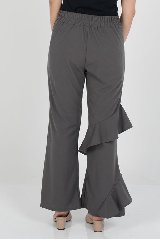 Hanna Ruffle Pants - Ash Grey - RoseValley