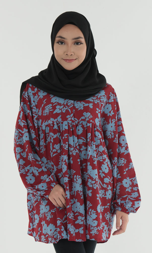 Babydoll - Mass Crepe Printed Blouse - RoseValley