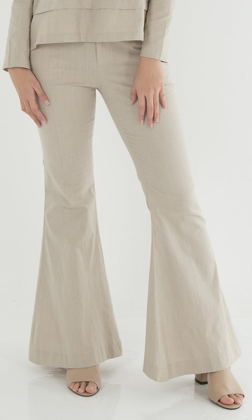 elegant appearance great discount exceptional range of styles Bell Bottom Pants in Nude