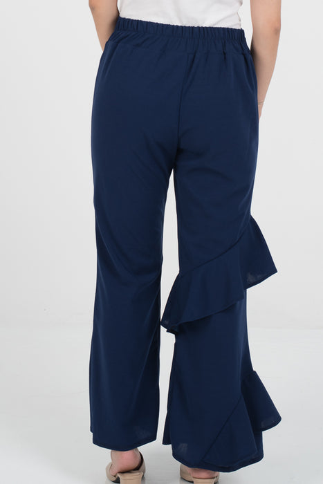 Hanna Ruffle Pants - Blue - RoseValley