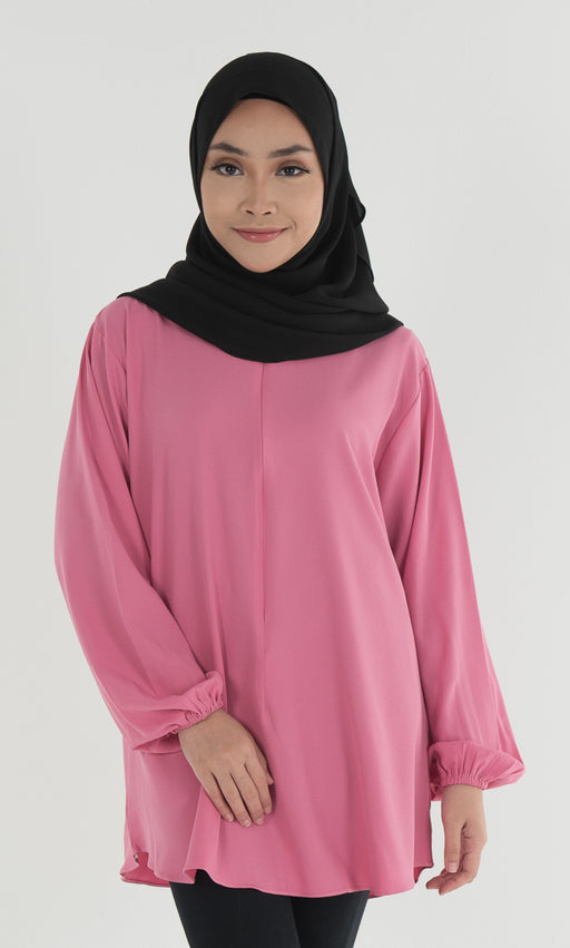 Classic - Mass Crepe Blouse Dusty Pink - RoseValley