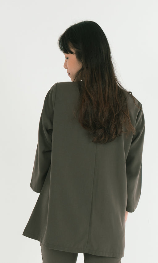 Double Sided Button Top in Green - RoseValley