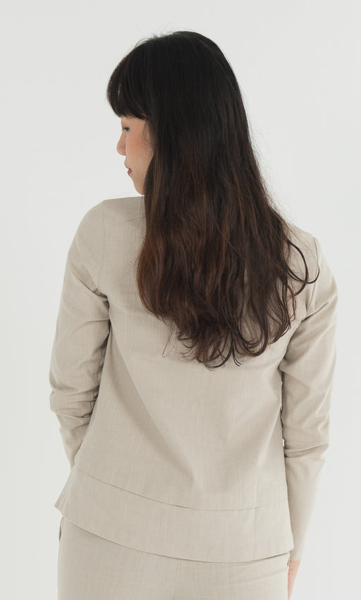 Double Tiered Top in Nude - RoseValley