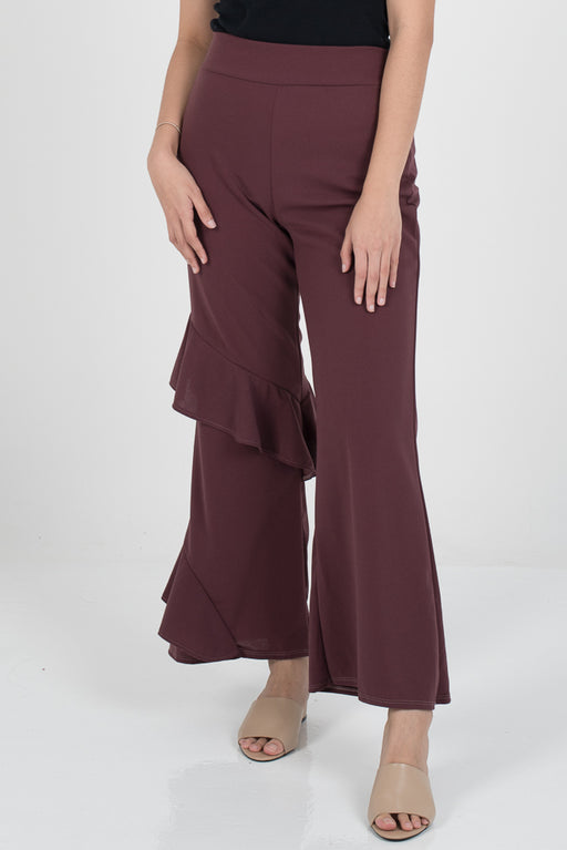 Hanna Ruffle Pants - Dusty Pink - RoseValley