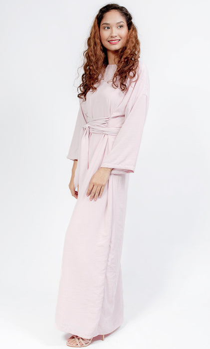 Hyeres Wrap Dress - Pink - RoseValley