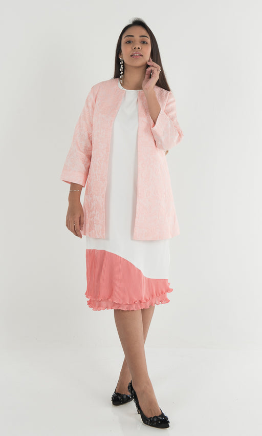 Jakel Jacquard Emboss Coat - Light Pink - RoseValley