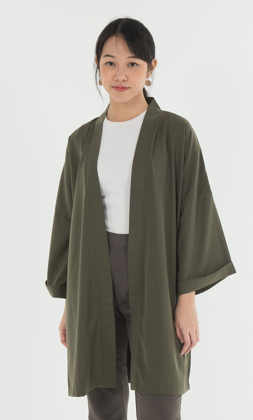 Kimono Top in Green - RoseValley