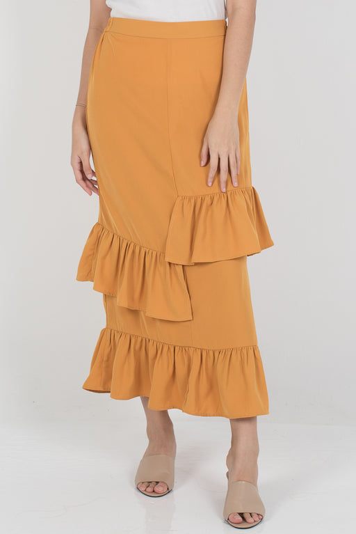 Dalina Tier Skirt - Mustard - RoseValley