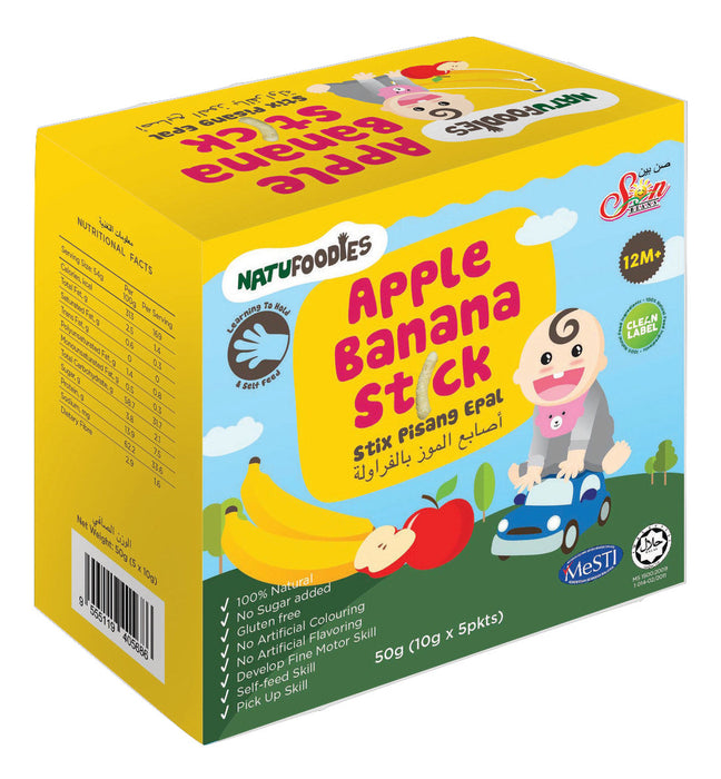 Natufoodies Apple Banana Stick - RoseValley