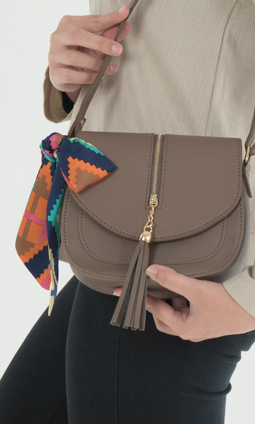 Helena Crossbody Bag - Nude Brown - RoseValley