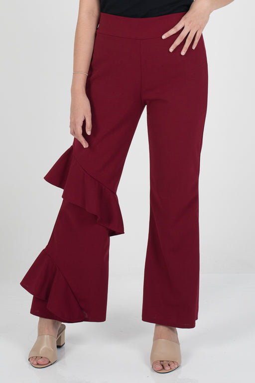 Hanna Ruffle Pants - Red - RoseValley
