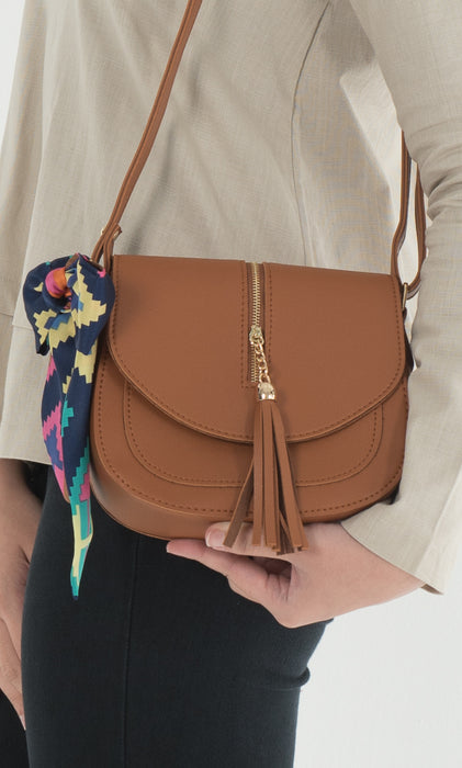 Helena Crossbody Bag - Camel Brown - RoseValley