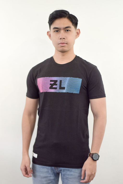 Zeeq Label – Wave Tee (Black) - RoseValley