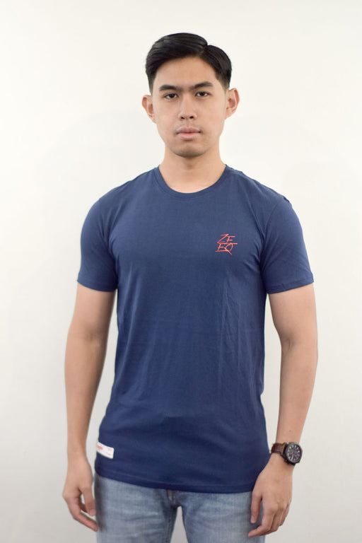 Zeeq Label – Signature Tee (Navy) - RoseValley