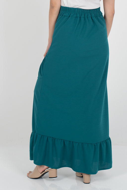 Tania Ruffle Skirt - Turquoise - RoseValley