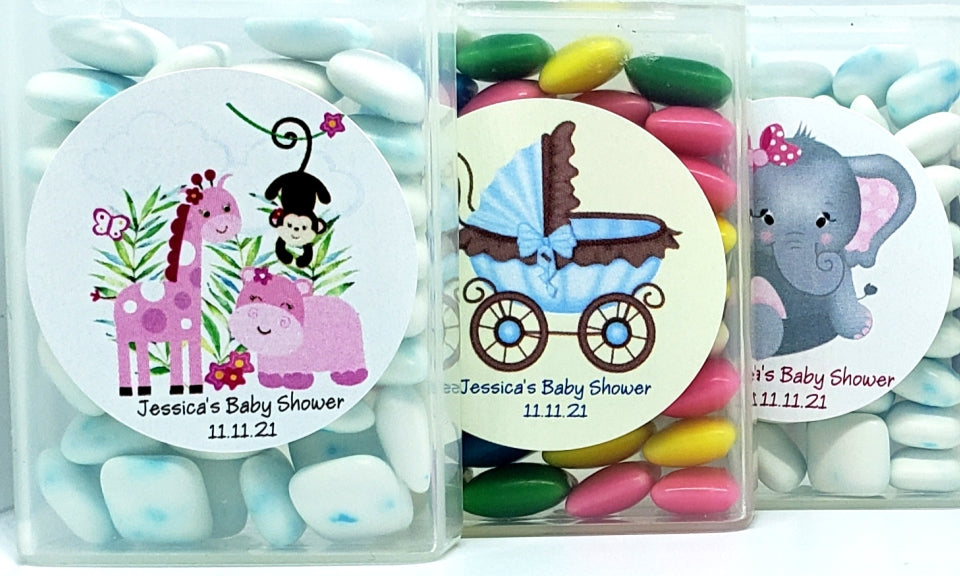 Baby Shower Mint Candy and Gum Favors