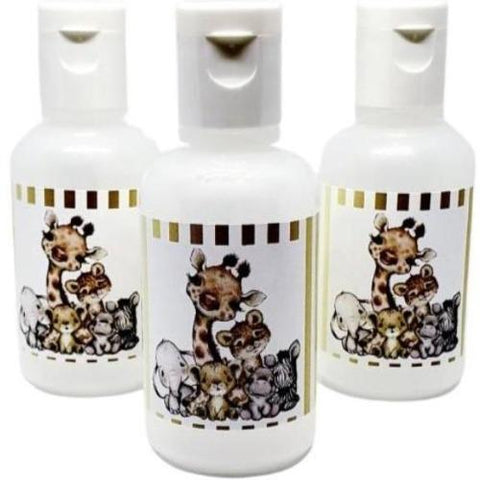Personalized cute safari baby shower hand sanitizer favors